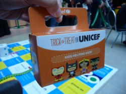 The official Trick or Treat for UNICEF collection box