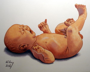 naked baby painting