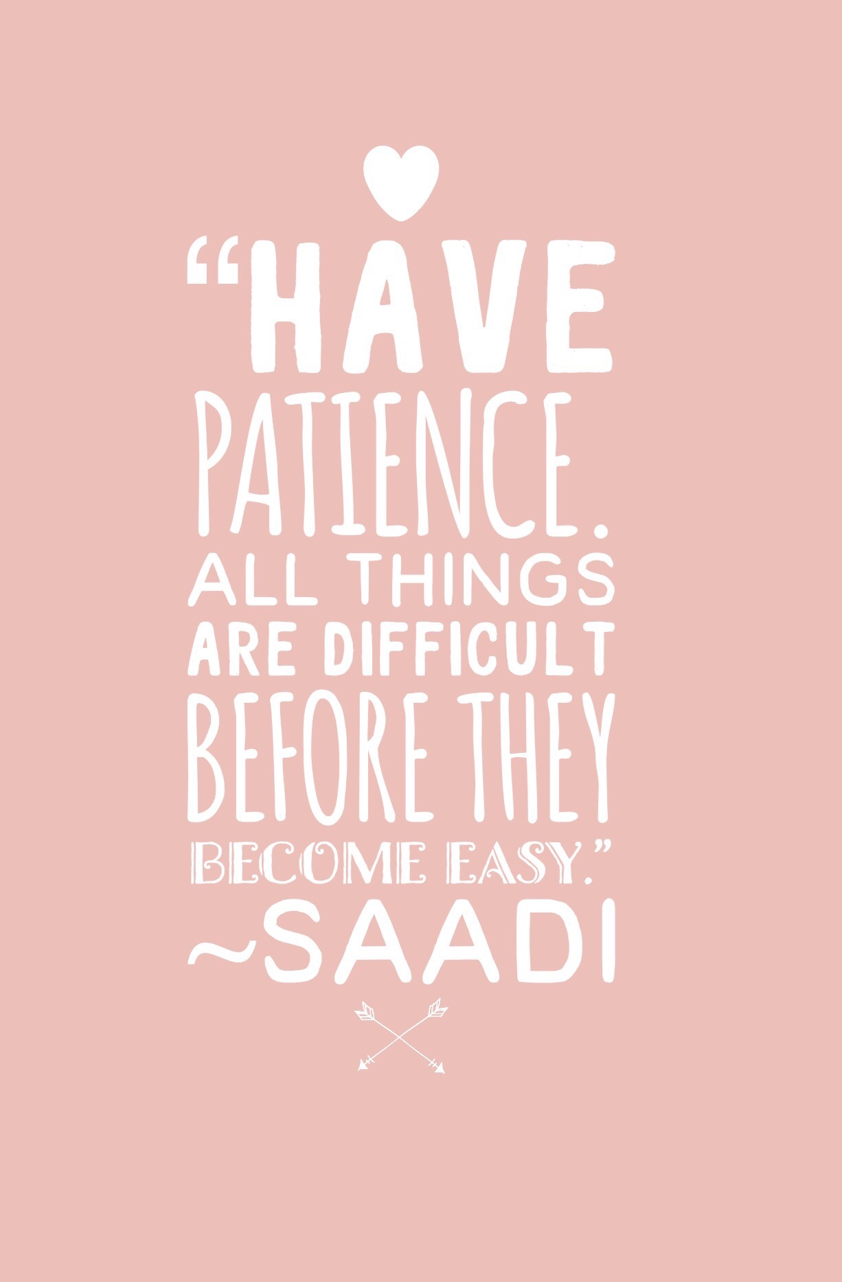 have patience saadi quote
